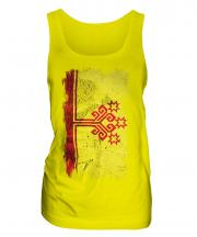 Chuvashia Grunge Flag Ladies Vest