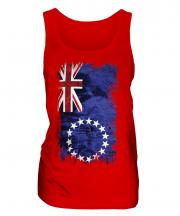 Cook Islands Grunge Flag Ladies Vest