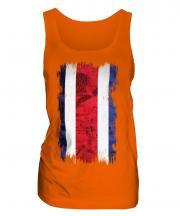 Costa Rica Grunge Flag Ladies Vest
