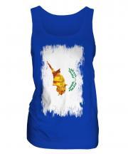 Cyprus Grunge Flag Ladies Vest