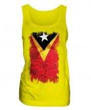East Timor Grunge Flag Ladies Vest
