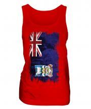 Falkland Islands Grunge Flag Ladies Vest