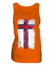 Faroe Islands Grunge Flag Ladies Vest