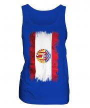 French Polynesia Grunge Flag Ladies Vest