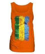 Gabon Grunge Flag Ladies Vest