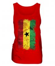 Ghana Grunge Flag Ladies Vest