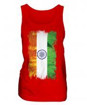India Grunge Flag Ladies Vest