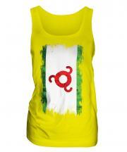 Ingushetia Grunge Flag Ladies Vest