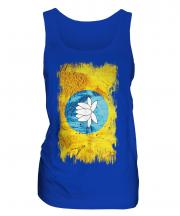 Kalmykia Grunge Flag Ladies Vest