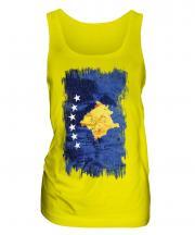 Kosovo Grunge Flag Ladies Vest