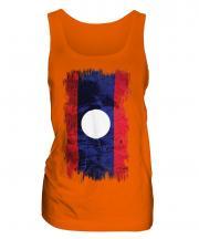 Laos Grunge Flag Ladies Vest