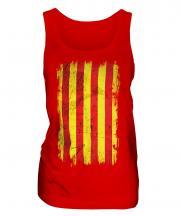 Catalonia Grunge Flag Ladies Vest