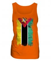 Mozambique Grunge Flag Ladies Vest