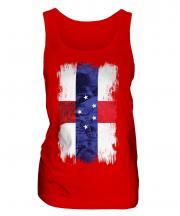 Netherlands Antilles Grunge Flag Ladies Vest