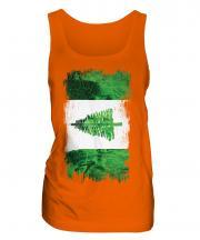Norfolk Island Grunge Flag Ladies Vest