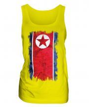 North Korea Grunge Flag Ladies Vest