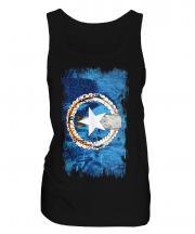 Northern Mariana Islands Grunge Flag Ladies Vest