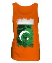 Pakistan Grunge Flag Ladies Vest