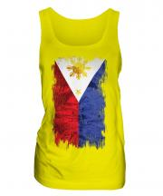 Philippines Grunge Flag Ladies Vest