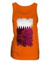 Qatar Grunge Flag Ladies Vest