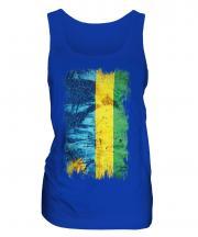 Rwanda Grunge Flag Ladies Vest
