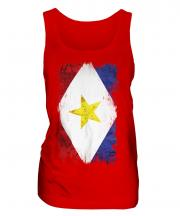 Saba Grunge Flag Ladies Vest