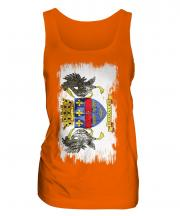 Saint Barthelemy Grunge Flag Ladies Vest