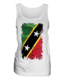 Saint Kitts And Nevis Grunge Flag Ladies Vest