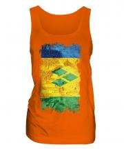Saint Vincents And The Grenadines Grunge Flag Ladies Vest