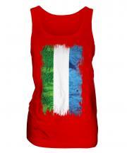 Sierra Leone Grunge Flag Ladies Vest
