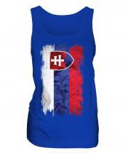 Slovakia Grunge Flag Ladies Vest