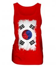 South Korea Grunge Flag Ladies Vest