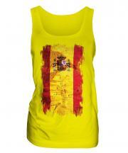 Spain Grunge Flag Ladies Vest