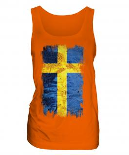 Sweden Grunge Flag Ladies Vest