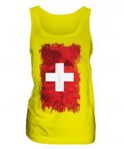 Switzerland Grunge Flag Ladies Vest