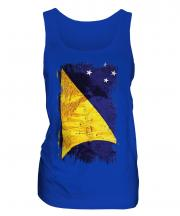 Tokelau Grunge Flag Ladies Vest