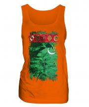 Turkmenistan Grunge Flag Ladies Vest