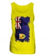 Turks And Caicos Islands Grunge Flag Ladies Vest
