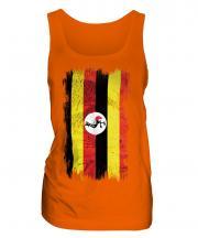 Uganda Grunge Flag Ladies Vest