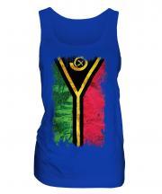 Vanuatu Grunge Flag Ladies Vest