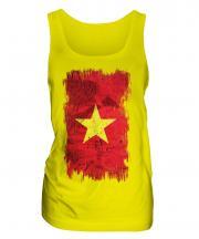 Vietnam Grunge Flag Ladies Vest