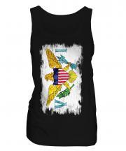 Us Virgin Islands Grunge Flag Ladies Vest