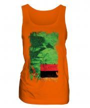 Zambia Grunge Flag Ladies Vest