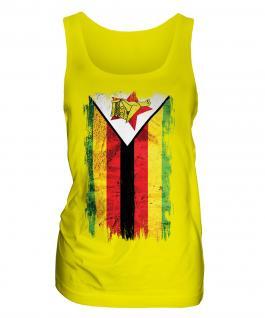 Zimbabwe Grunge Flag Ladies Vest