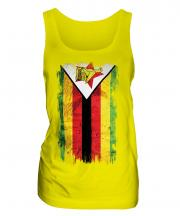 Zimbabwe Grunge Flag Ladies Vest