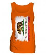 California State Grunge Flag Ladies Vest
