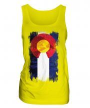 Colorado State Grunge Flag Ladies Vest