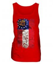 Georgia State Grunge Flag Ladies Vest