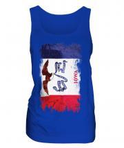 Iowa State Grunge Flag Ladies Vest