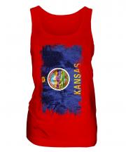 Kansas State Grunge Flag Ladies Vest